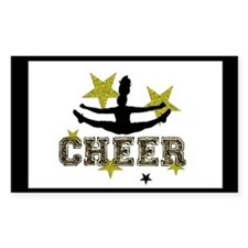 Black and Gold Cheerleader Decal