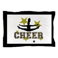 Black and Gold Cheerleader Pillow Case