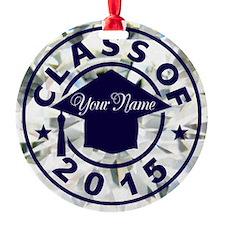Diamond Class Of 2015 Graduation Round Ornament