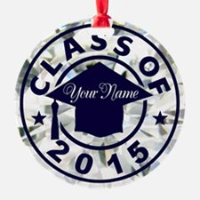 Diamond Class Of 2015 Graduation Round Ornament