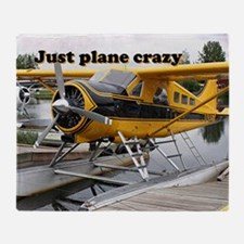 Just plane crazy: Beaver float plane Throw Blanket
