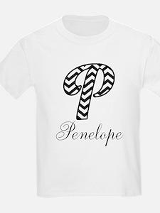 Monogram P Your Name Custom T-Shirt