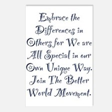 Embrace the Differences Postcards (Package of 8)