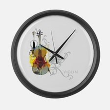 Violin Large Wall Clock