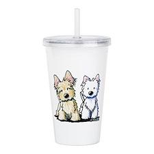 KiniArt Terriers Acrylic Double-wall Tumbler