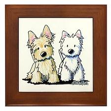 KiniArt Terriers Framed Tile