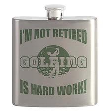 Retired Golf Lover Flask