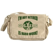 Retired Golf Lover Messenger Bag
