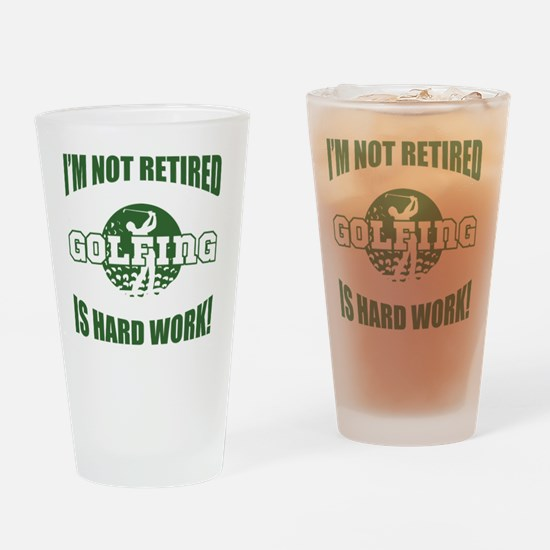 Retired Golf Lover Drinking Glass