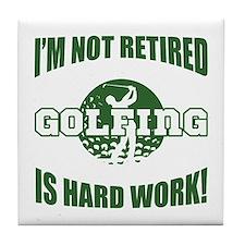 Retired Golf Lover Tile Coaster