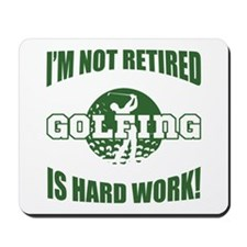 Retired Golf Lover Mousepad