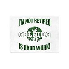 Retired Golf Lover 5'x7'Area Rug