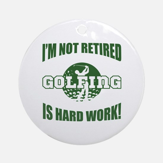 Retired Golf Lover Ornament (Round)