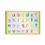 Small Letters Rectangle Magnet (10 pack)