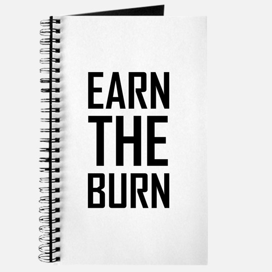 Earn The Burn Exercise Workout Journal