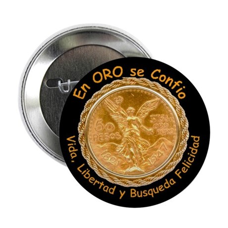 "Mex Oro 2.25"" Button (10 pack)"