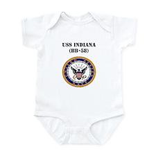 USS INDIANA Infant Bodysuit