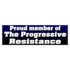 Progressive Resistance Bumper Bumper Sticker