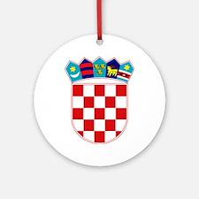Croatia Hrvatska Emblem Ornament (Round)