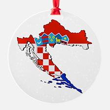 Flag Map of Croatia Ornament