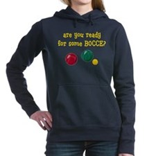 bocce-areyoureadyB.png Women's Hooded Sweatshirt