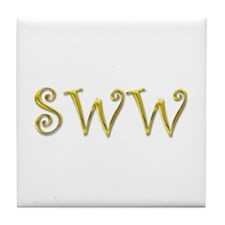 SWW gold Tile Coaster