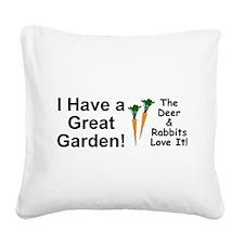 Great Garden Square Canvas Pillow