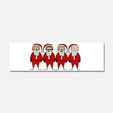 Funny Santas Car Magnet 10 x 3