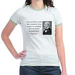 Ralph Waldo Emerson 4 Jr. Ringer T-Shirt