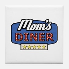 mom's diner Tile Coaster