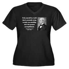 Ralph Waldo Emerson 4 Women's Plus Size V-Neck Dar