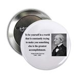 "Ralph Waldo Emerson 4 2.25"" Button (100 pack)"