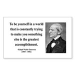 Ralph Waldo Emerson 4 Rectangle Sticker