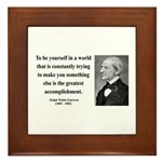 Ralph Waldo Emerson 4 Framed Tile