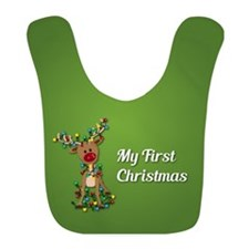 My First Christmas Rudolph Bib