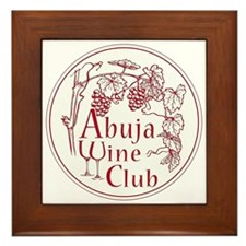 Abuja Wine Club Round Red Framed Tile