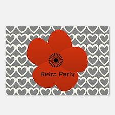 Cute Red Flower Postcards (Package of 8)