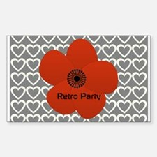 Cute Red Flower Decal