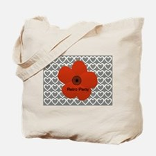 Cute Red Flower Tote Bag
