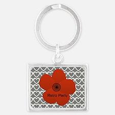 Cute Red Flower Landscape Keychain