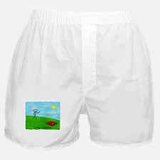 Stick Person I Play Cornhole Boxer Shorts