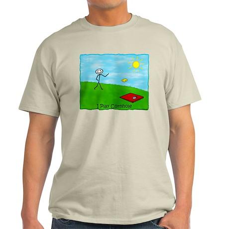 Stick Person I Play Cornhole Light T-Shirt