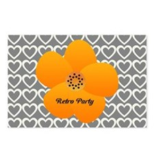 Sunny Bright Fluffy Flower Holiday Hearts Postcard