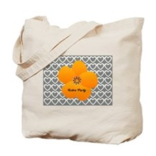 Sunny Bright Fluffy Flower Holiday Hearts Tote Bag