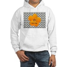 Sunny Bright Fluffy Flower Holiday Hearts Hoodie