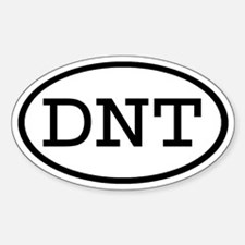 DNT Oval Oval Decal