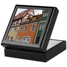 Colorful Houses Keepsake Box