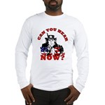 George Bush/Uncle Sam Long Sleeve T-Shirt