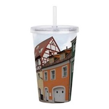 Colorful Houses Acrylic Double-wall Tumbler