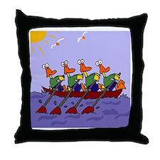 Ducks Rowing Throw Pillow